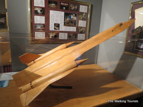 Sr71 made out of matchsticks at Matchstick Marvels in Gladbrook, Iowa