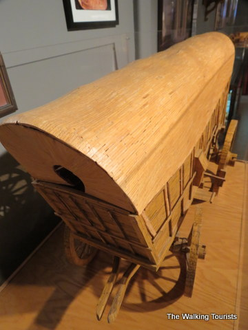 Conestoga Wagon made out of matchsticks at Matchstick Marvels in Gladbook, Iowa