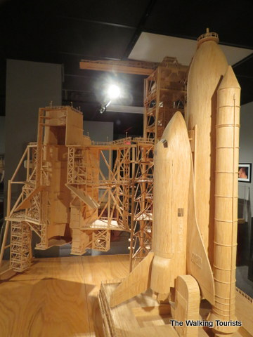 Challenger Space Shuttle  made out of matchsticks at Matchstick Marvels in Gladbrook, Iowa
