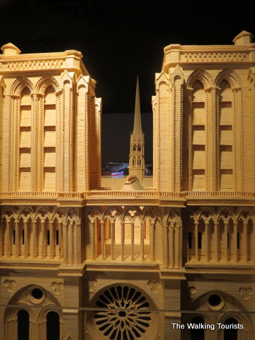 Notre Dame Cathedral out of Matchsticks at Matchstick Marvels in Gladbrook, Iowa