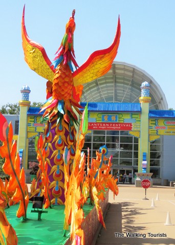 Rise of the Phoenix is at the entrance of the Missouri Botanical Gardens