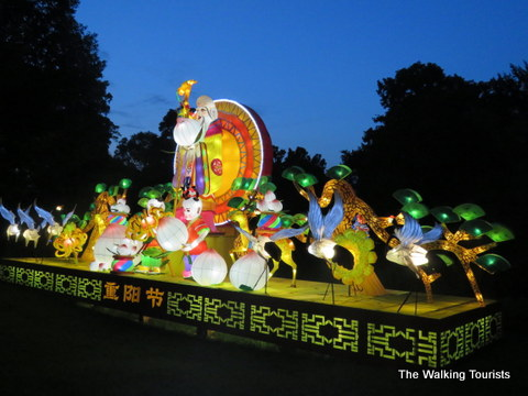 Representation of Chinese festival at Missouri Botanical Gardens