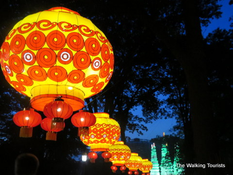 Chinese lanterns at Missouri Botanical Gardens
