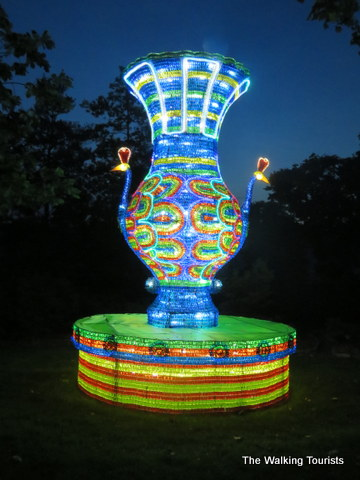 Peacock teapot at Missouri Botanical Gardens Lantern Festival