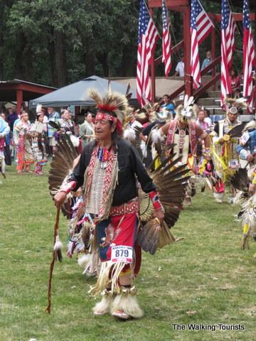 An elder dancer at a Winnebago (Ho Chunk) powwow.