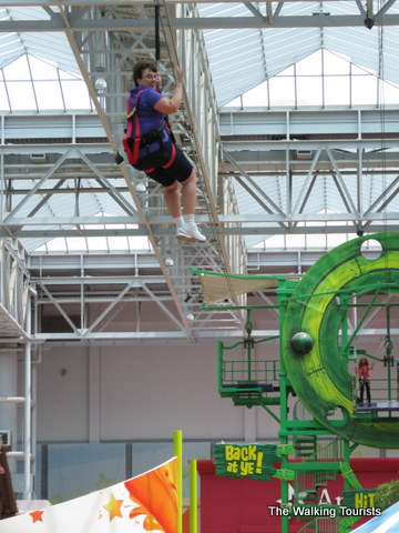 Ziplining at the Mall of America
