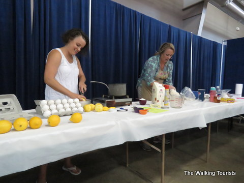 Cooking demonstrations at the Iowa State Fair
