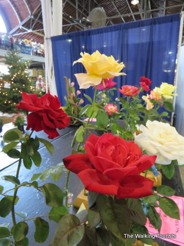 Flowers on display at the Iowa State Fair