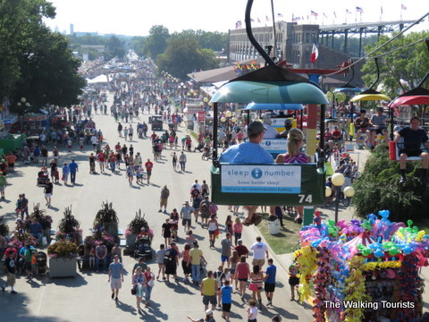 Crowds at the Iowa State Fair