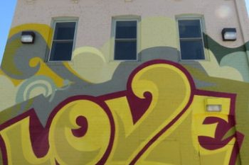 Love mural in North Omaha