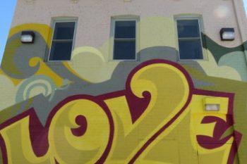 Love mural in North Omaha