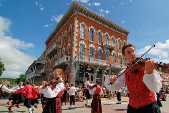 Downtown Decorah during 45th Annual Norwegian Festival