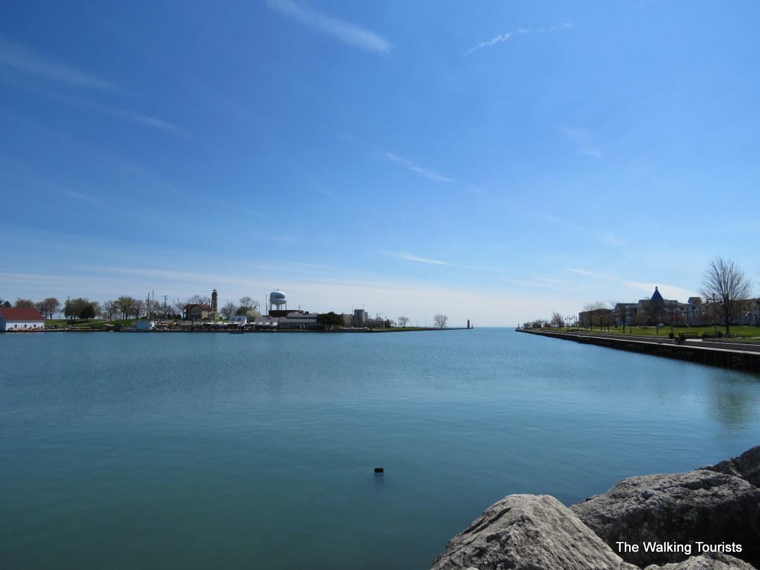 Enjoying the view along Kenosha lakefront