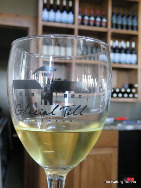 Glass of wine from Glacial Till during Nebraska Wine Tours