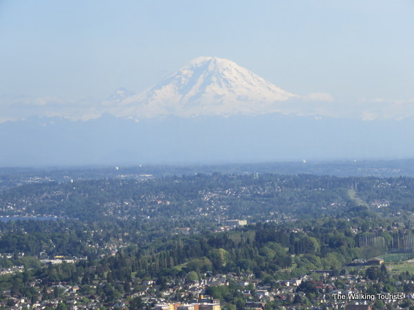 Great view of Mt. Ranier from Columbia Center in Seattle