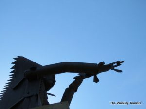 Chief War Eagle statue looks over three states from Sioux City