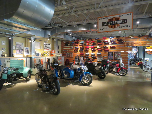 the museum on ukes second level offers visitors a walk down memory lane for harley davidson