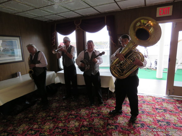 A jazz band entertains during our cruise in Stillwater