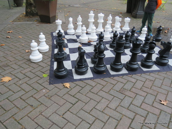 Chess board in Pioneer Square