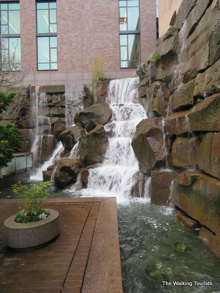 Waterfall in Pioneer Square