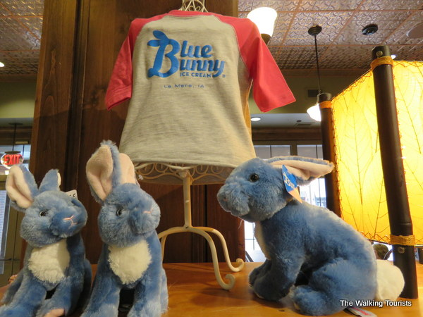 Gift shop at the Blue Bunny Ice Cream Parlor