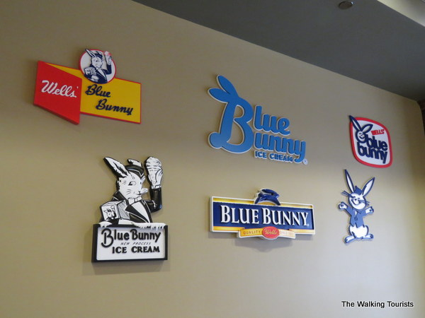 Blue Bunny logos at Ice Cream Parlor in LeMars, Iowa