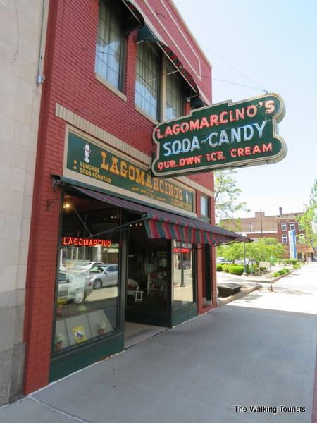 Lagomarcino's ice cream in Moline, Illinois