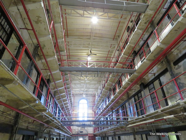 Inside the walls at Missouri State Prison, which is said to be haunted.