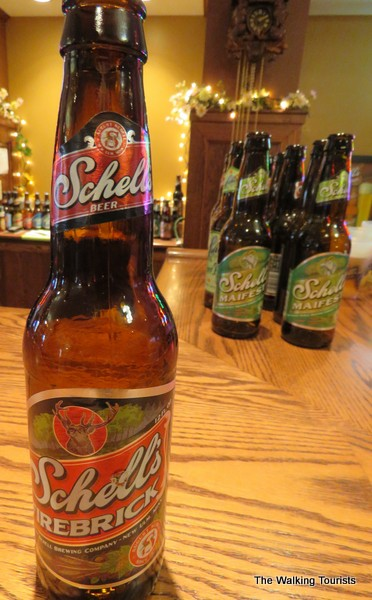 Beer samples at Schell's Brewery in New Ulm, Minnesota