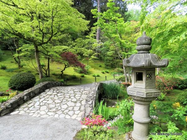 Bridges and lanterns provide cultural significance.