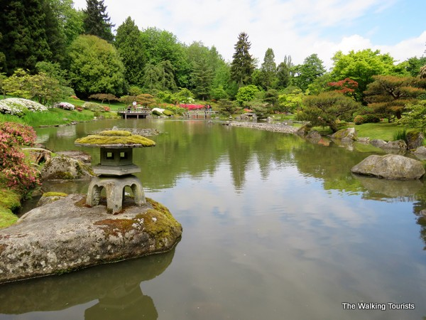 Seattle's Japanese Garden provides a serene visit in the middle of the city.