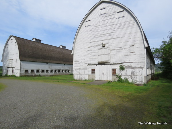 Barns that belonged to the Brown family.
