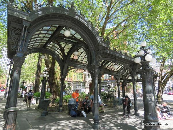 Public art in Pioneer Square in Seattle