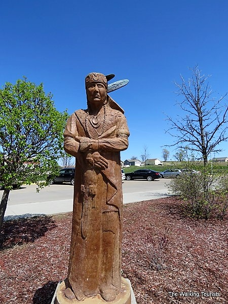 Winnebago Clan Sculpture in Winnebago, Nebraska