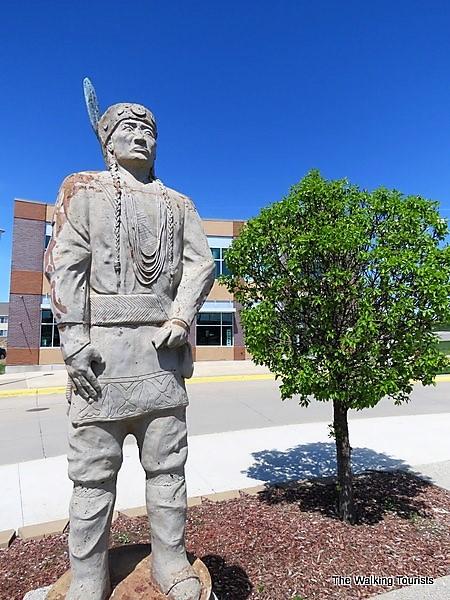 Buffalo Clan statue in Winnebago, Nebraska
