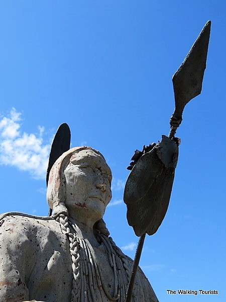 Sculpture of Native American