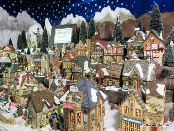 Christmas villages on display