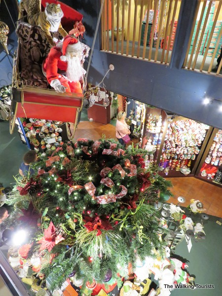 Santa display at Kris Kringl store
