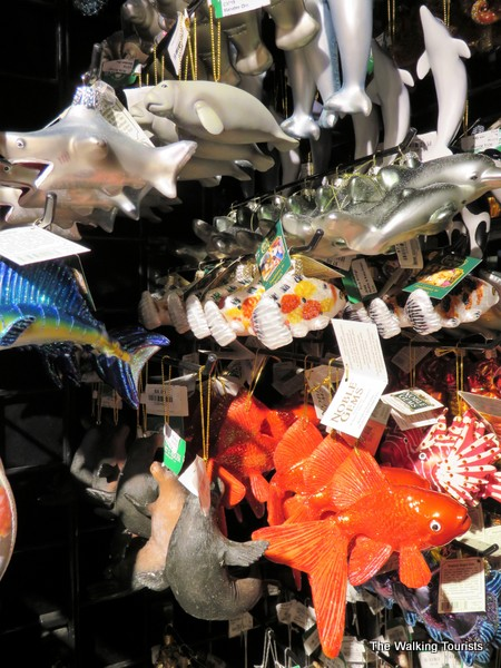 Fish and dolphin ornaments