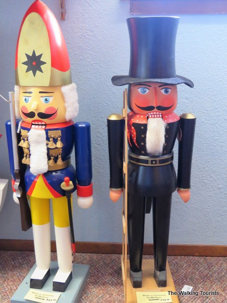 Nutcrackers adorn the lobby at the Leavenworth Nutcracker Museum