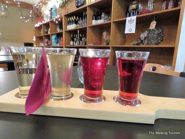 Morgan Creek wine flight