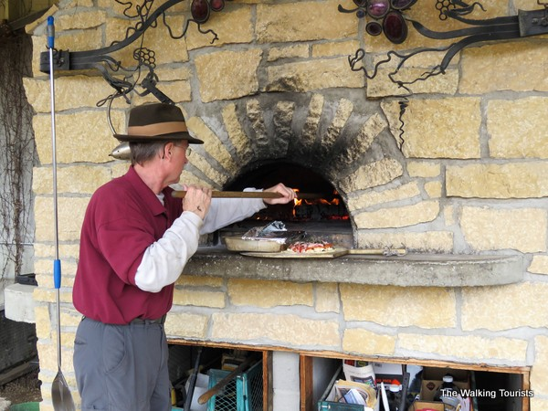 Morgan Creek Winery wood fire oven