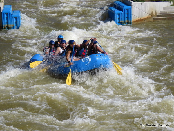 Rafting in whitewater rapids at Riversport Adventures in Oklahoma City