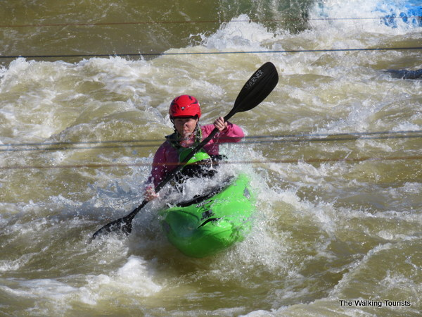 Kayaking in Whitewater Rapids at Riversport Adventures in Oklahoma City