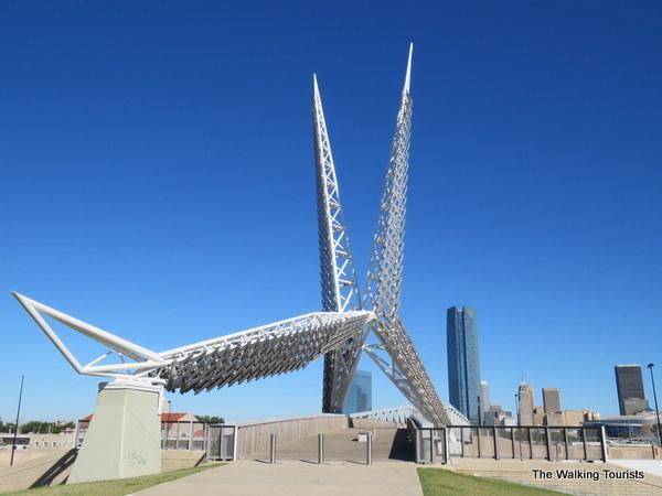 Skydance Bridge in Oklahoma City was inspired by the Oklahoma State Bird the scissor tailed flycatcher