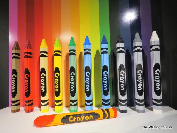 Crayons made from Legos