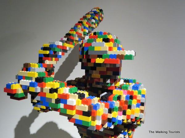 Pixelated art baseball player