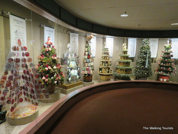 Hallmark's themed Christmas tree display.
