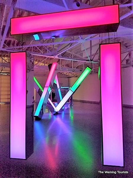 Triph is an interactive light sculpture