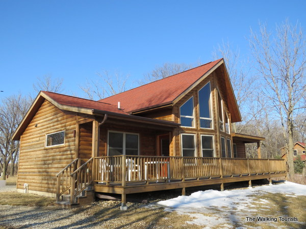 A view of our cabin at Red Cedar Lodge.